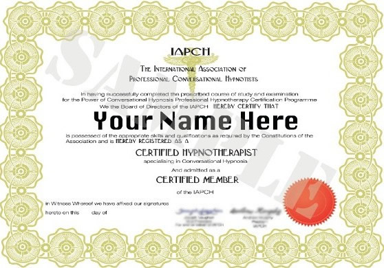 IAPCH Certification